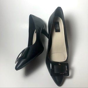Jones New York DIANA Leather Pumps with Buckles